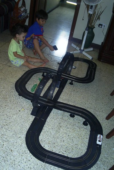 well these race car tracks dont build themselves and that is why kids need their parents at least on this day