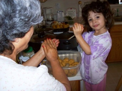 Sophia and Abuela Cooking