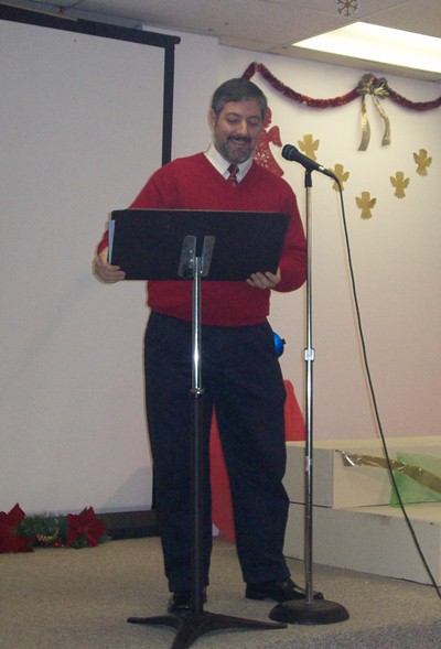 Briam Preaching at Templo Hispano Bautista